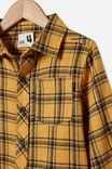 Rugged Long Sleeve Shirt, VINTAGE HONEY/NAVY PLAID CHECK