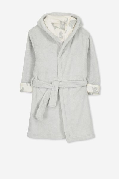 Alex Hooded Gown, BEARY SLEEPY
