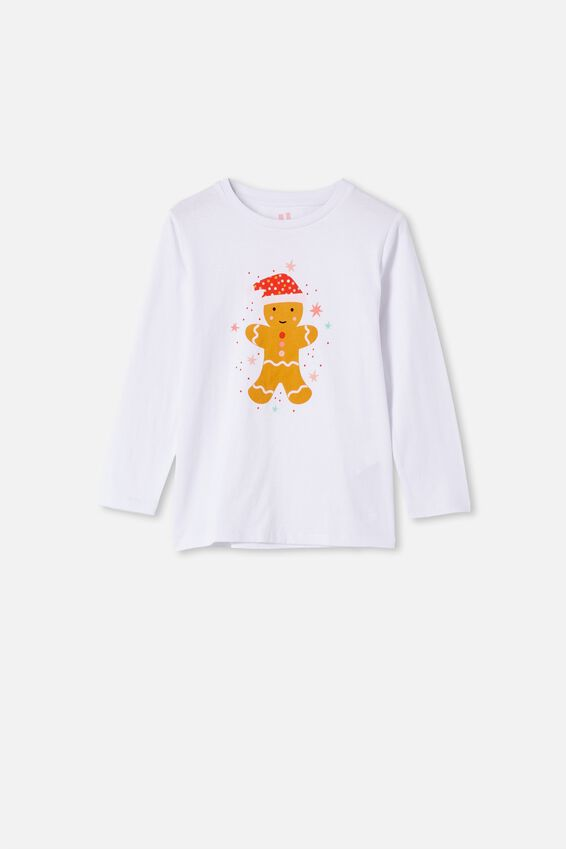 Penelope Long Sleeve Tee, WHITE/GINGERBREAD SCRATCH AND SNIFF NEW
