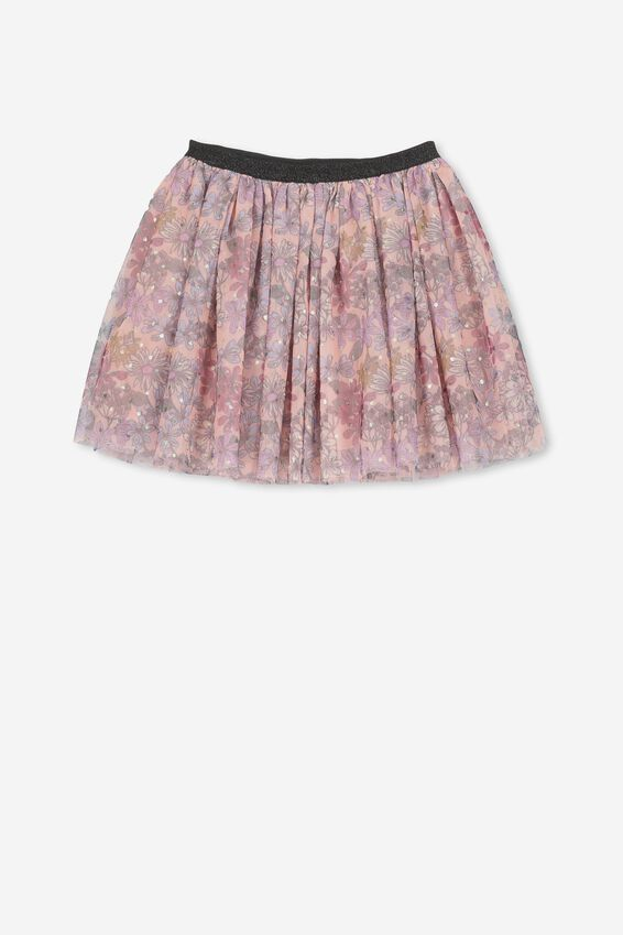 Trixiebelle Tulle Skirt, DUSTY PINK/FLORAL