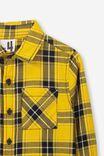 Noah Long Sleeve Shirt, GOLDEN GLOW CHECK
