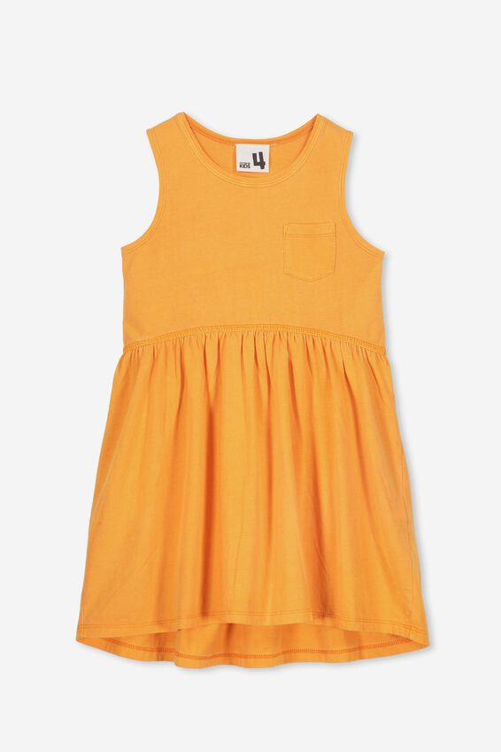 Freya Sleeveless Dress, MANDARIN POP