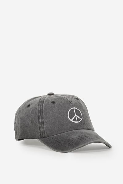 Baseball Cap, WASHED GRAPHITE/EMB