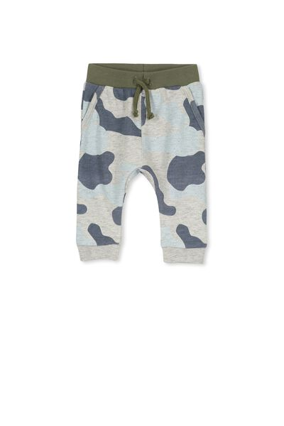 Shelby Trackpant, GREY NEP MARLE/CAMO PRINT