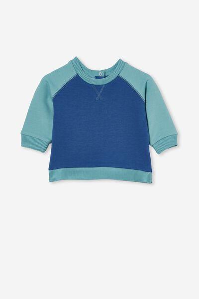 Tate Sweater, PETTY BLUE/RUSTY AQUA