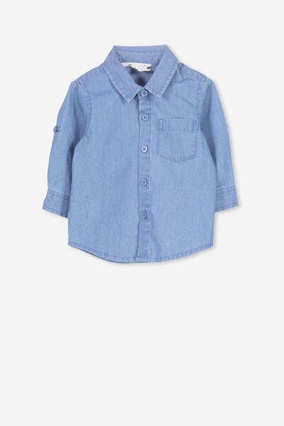 Zac Long Sleeve Shirt, CHAMBRAY