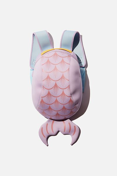 Kids Neoprene Backpack, VINTAGE LILAC MERMAID