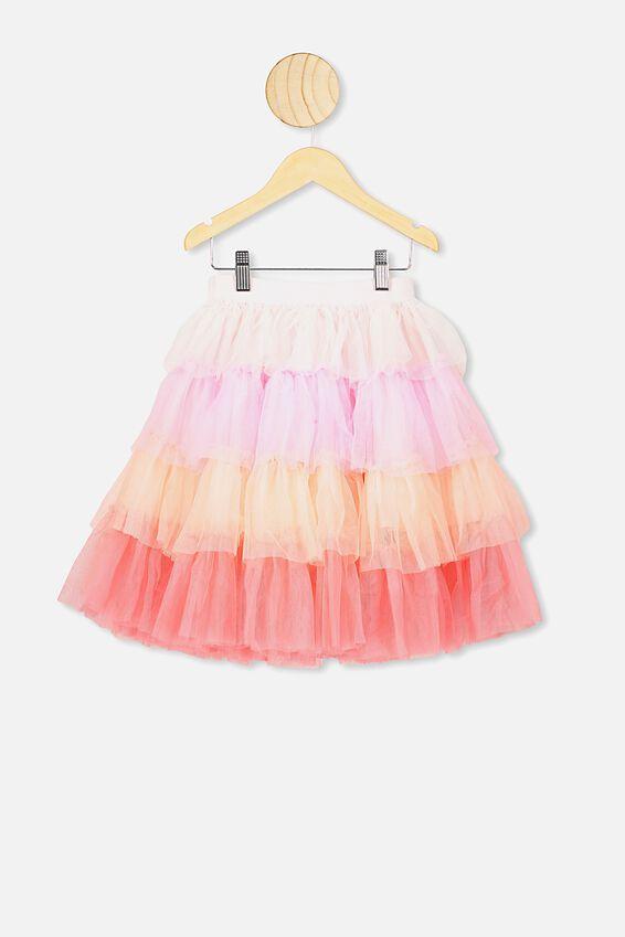 Trixiebelle Tulle Skirt, PINK GRADIENT/TIERED MIDI