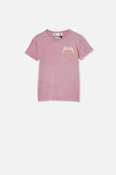 License Short Sleeve Tee, LCN PRO CHALKY MAUVE/METALLICA