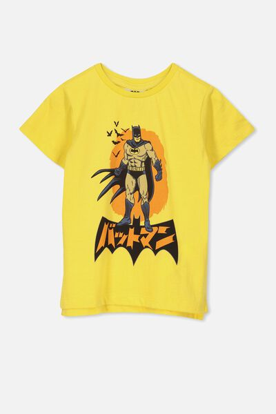 Short Sleeve License Tee, DUNGAREE YELLOW/BATMAN