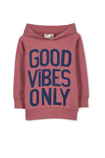 Liam Hoodie, RED SAND/GOOD VIBES ONLY