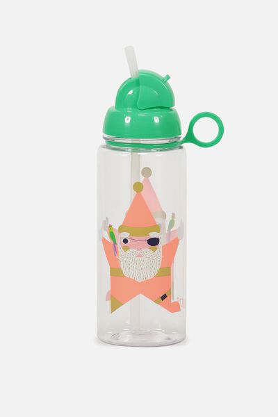 Spring Drink Bottle, PIRATE SANTA