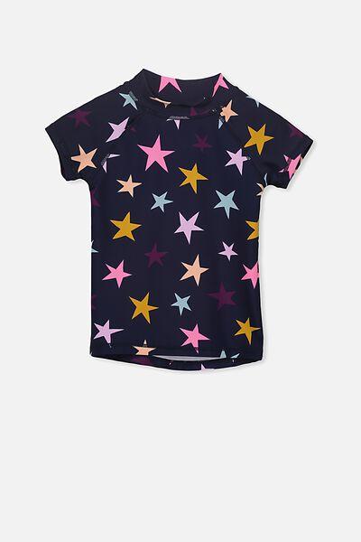 Hamilton Short Sleeve Rashy, PEACOAT/STARS