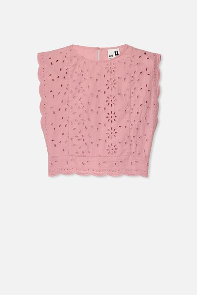 Maisie Frill Sleeve Top, SWEET BLUSH