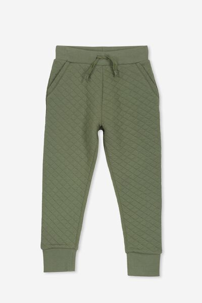Kendra Premium Trackpant, FOUR LEAF CLOVER/QUILTED