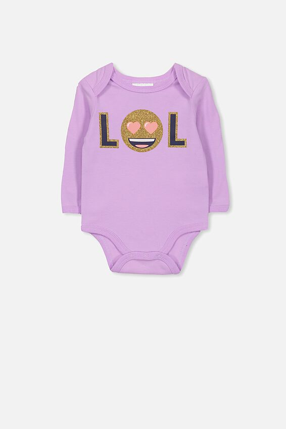 License Ls Bubbysuit, ORCHARD BLOOM/EMOJI
