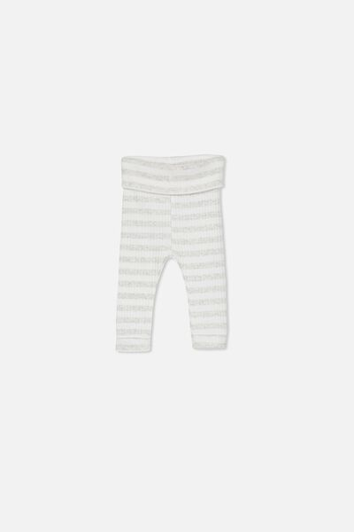 Newborn Legging, KYLE STRIPE MILK/CLOUD MARLE