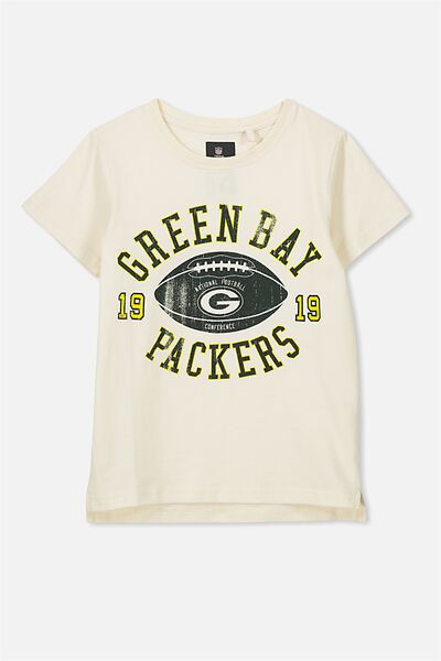 Short Sleeve License Tee, DARK VANILLA/PACKERS
