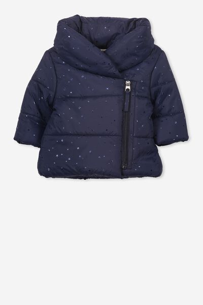 Daisy Puffer Jacket, WASHED NAVY/STAR