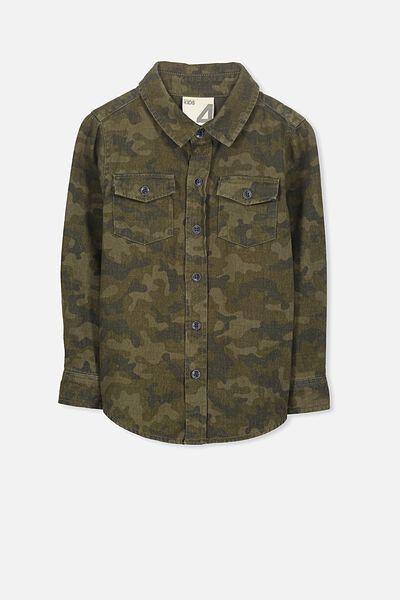Noah Long Sleeve Shirt, COOL CAMO