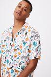 Kip&Co Mens Short Sleeve Shirt, LCN KIP IN THE JUNGLE