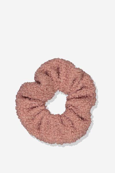 Scrunchie, NECTAR PINK/TEDDY