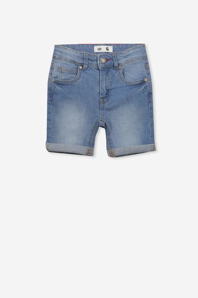 Elliot Denim Short, MID BLUE WASH
