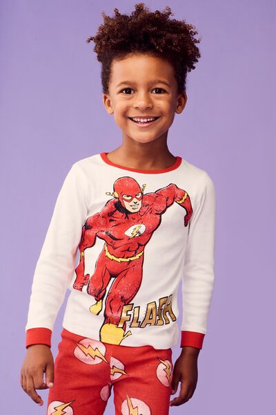 Harry Long Sleeve Boys PJ Set, LCN WB THE FLASH ACTION HERO