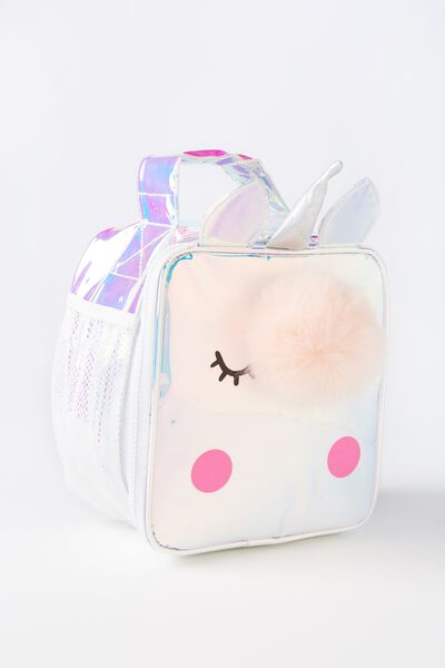 Kids Fancy Lunch Bag, HOLOGRAPHIC UNICORN