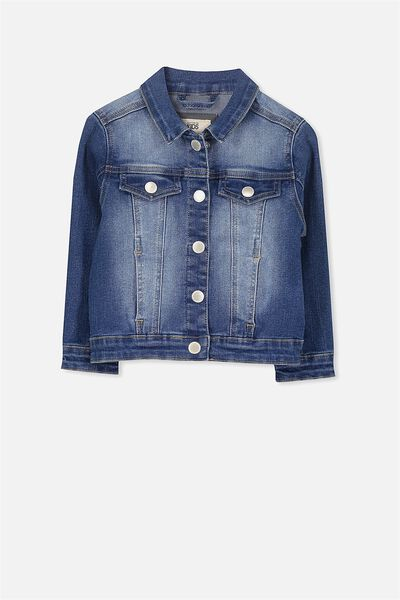 Dolly Embellished Denim Jacket, LIGHT WASH/UNICORN
