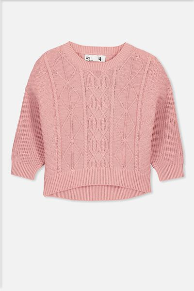 Deonne Knit Jumper, SWEET BLUSH