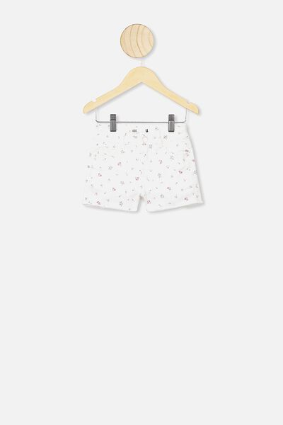 Cleo Raw Edge Denim Short, DARK VANILLA/FLORAL FIELDS