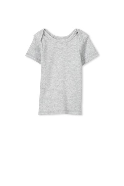 Mini Ss Rib Tee, CLOUD MARLE