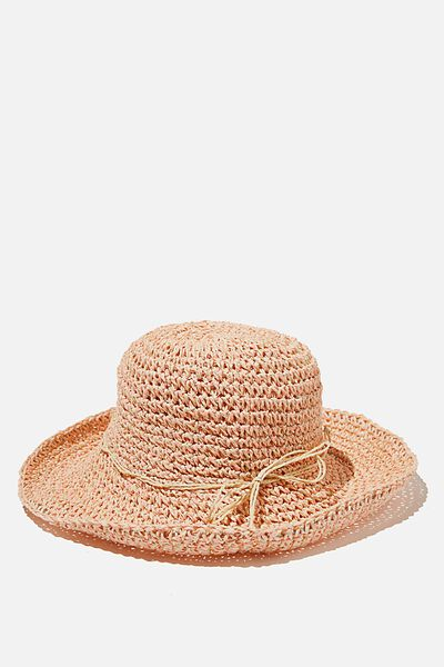 Floppy Hat, PINK NATURAL