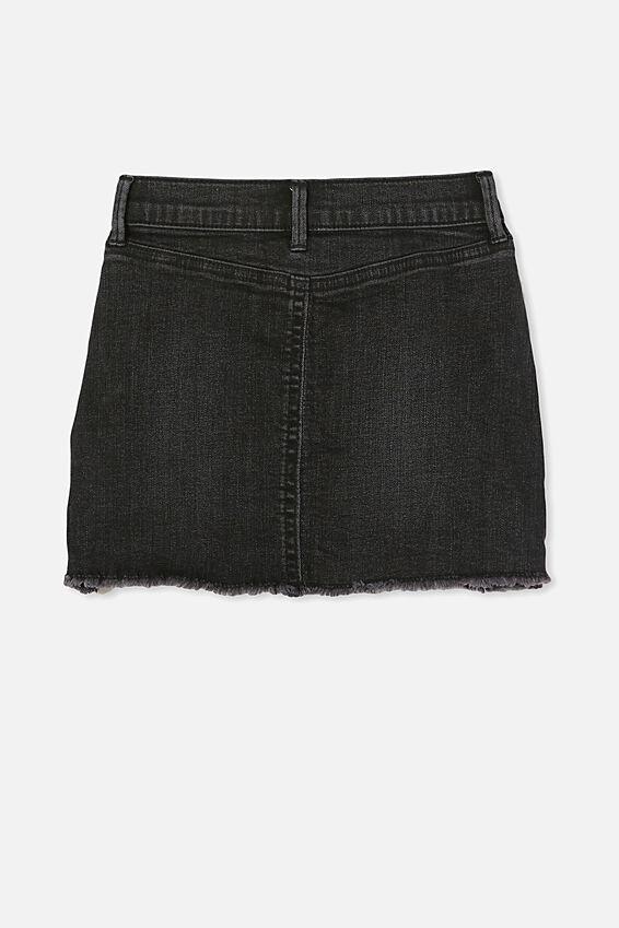 Finn Denim Skirt, BLACK WASH/RIPS