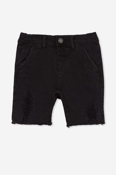 Straight Fit Short, BURLEIGH BLACK