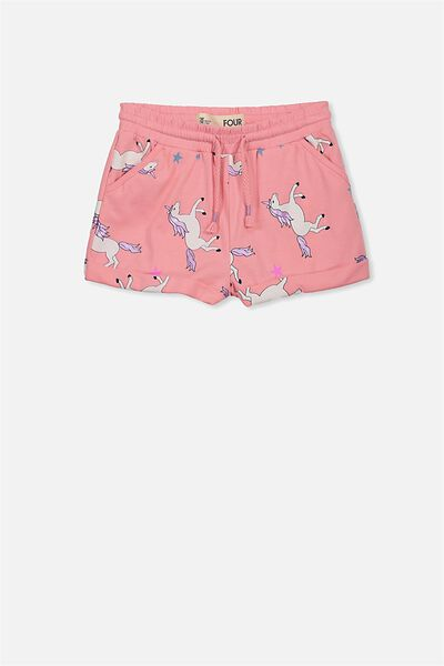 Nila Knit Short, FLAMINGO PINK/UNICORNS