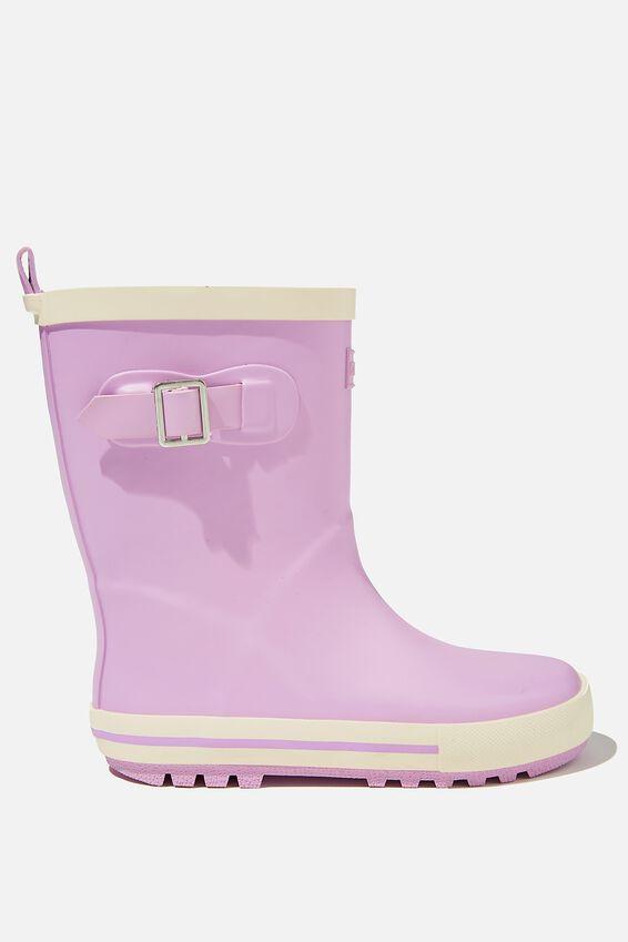 Fashion Gumboots, PALE VIOLET ECRU