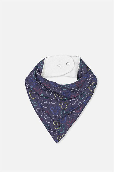 License Dribble Bib, WASHED NAVY/MICKEY OUTLINE
