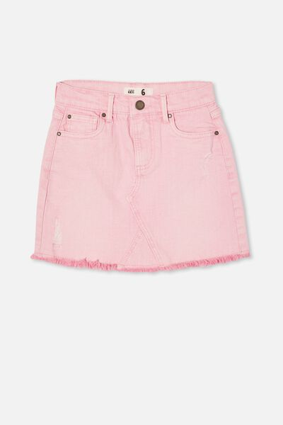 Finn Denim Skirt, CALI PINK