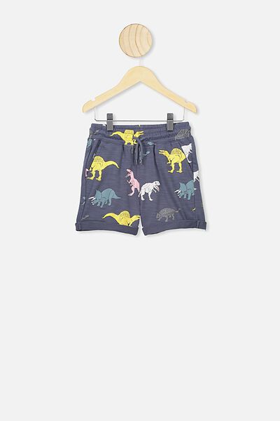 Henry Slouch Short, VINTAGE NAVY/COLOURED DINOS