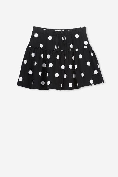 Cilla Skirt, BLACK/JUMBO SPOT