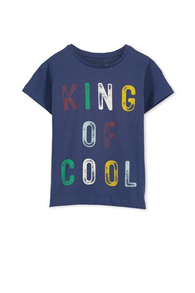 Max Short Sleeve Tee, CAPTAINS BLUE/KING OF COOL