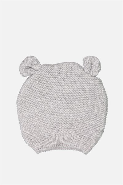 Baby Knit Beanie, CLOUD MARLE