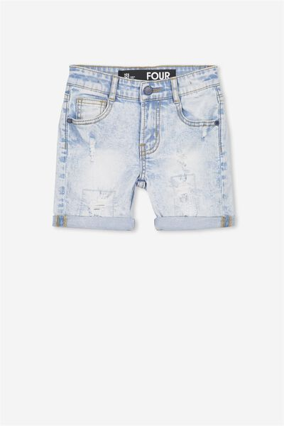 Bay Dnm Short, SUMMER WASH