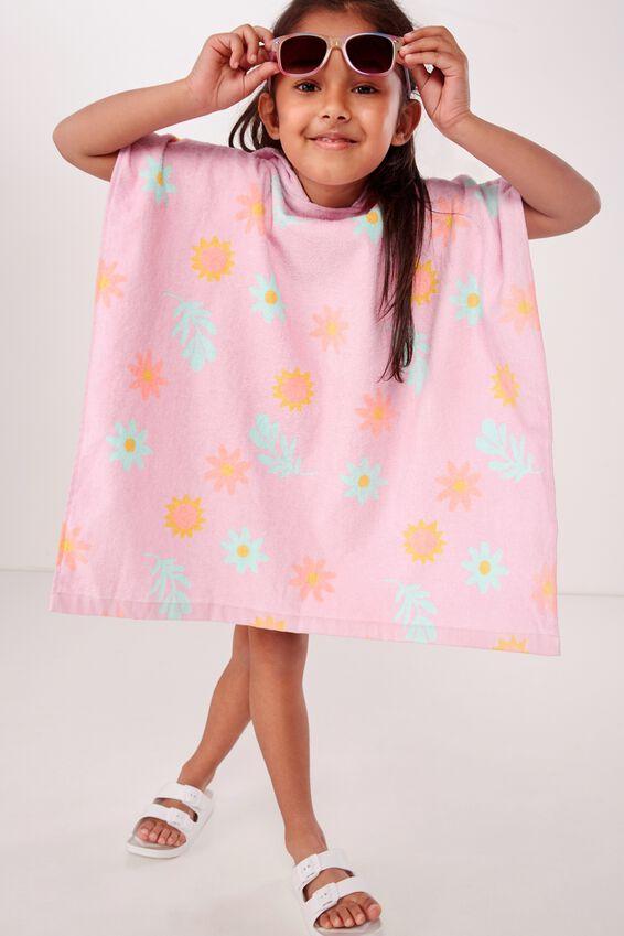 Personalised Hooded Towel, LAVENDER FLORAL