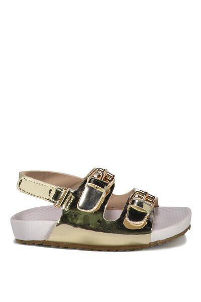 Mini Sling Back Sandal, GOLD