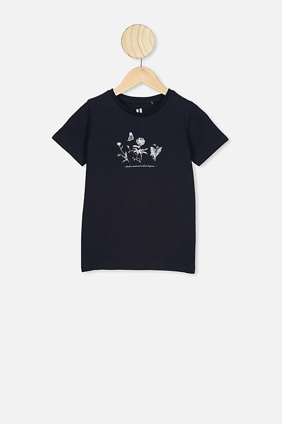Penelope Short Sleeve Tee, INDIAN INK/PLANT A SEED