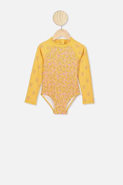Lydia One Piece, CORN SILK/SPRIGGY FLORAL