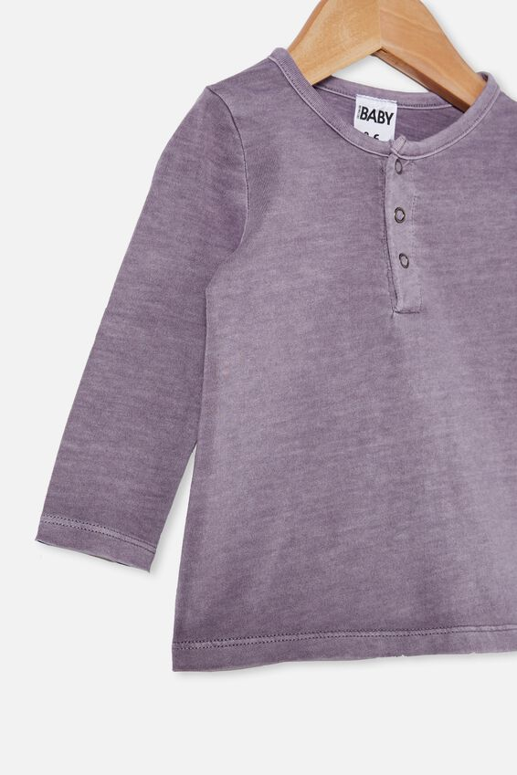 Denny Long Sleeve Top, DUSK PURPLE WASH